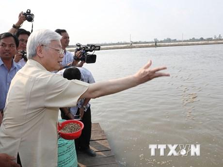 [Photo] Tổng Bí thư Nguyễn Phú Trọng thăm, làm việc tại tỉnh An Giang