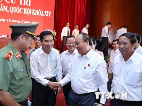 [Photo] Thủ tướng Nguyễn Xuân Phúc tiếp xúc cử tri tại Hải Phòng