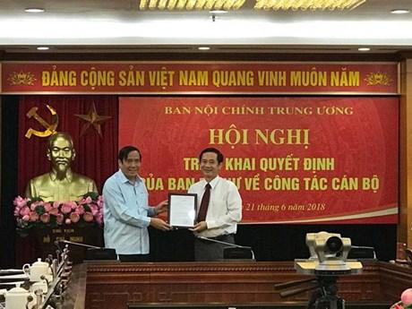 Ông Nguyễn Thái Học giữ chức Phó Trưởng Ban Nội chính Trung ương