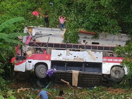 [Photo] Xe khách rơi xuống vực tại Cao Bằng khiến 4 người tử vong
