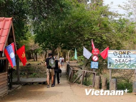 [Photo] Ấn tượng vẻ đẹp hùng vĩ của thác Somphamit ở tỉnh Champasak