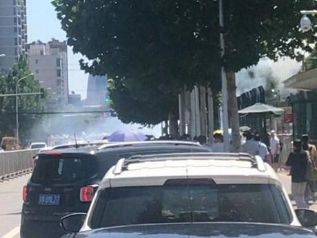 [Photo] Hiện trường vụ nổ bên ngoài đại sứ quán Mỹ ở Bắc Kinh