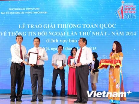 [Photo] Lễ trao giải thưởng toàn quốc về thông tin đối ngoại năm 2014