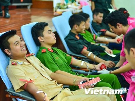 [Photo] 1.500 chiến sỹ Công an Hà Nội tham gia hiến máu tình nguyện