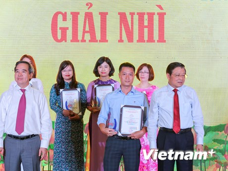Toàn cảnh lễ trao Giải thưởng toàn quốc về thông tin đối ngoại 2017