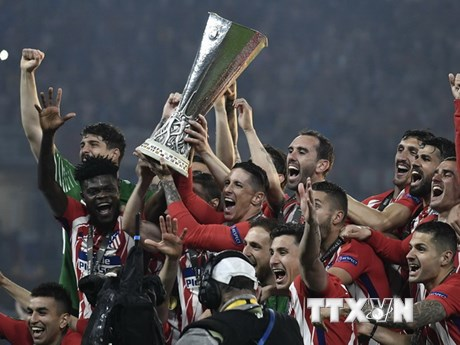 [Photo] Atletico Madrid vô địch Europa League 2017-2018