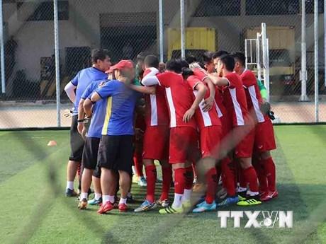 [Photo] ASIAD 2018: U23 Việt Nam luyện tập trước trận gặp Pakistan