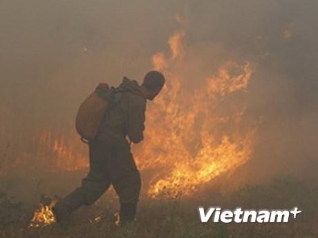 Cháy rừng đe dọa trung tâm hạt nhân lớn của Nga