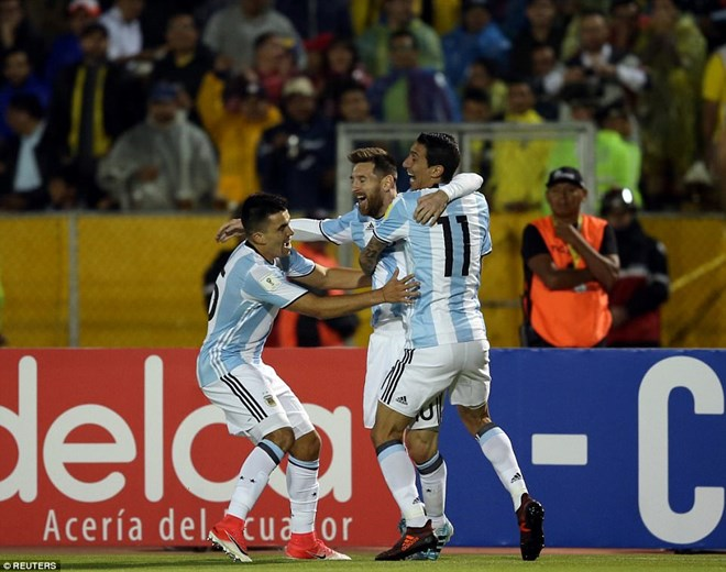 Argentina lần đầu thắng trên sân Ecuador kể từ năm 2001. (Nguồn: Reuters)