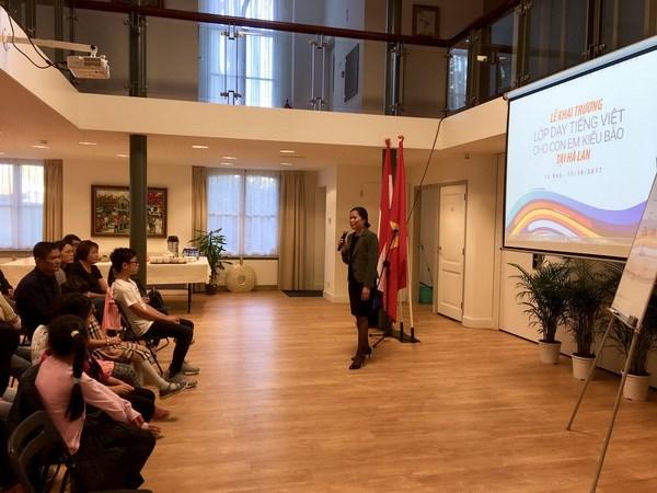 Khai giảng lớp học tiếng Việt cho con em kiều bào ở Hà Lan - ảnh 1