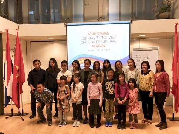 Khai giảng lớp học tiếng Việt cho con em kiều bào ở Hà Lan - ảnh 4