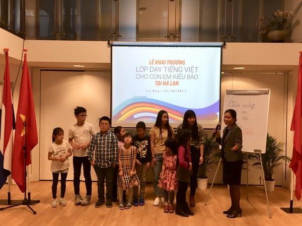 Khai giảng lớp học tiếng Việt cho con em kiều bào ở Hà Lan - ảnh 2
