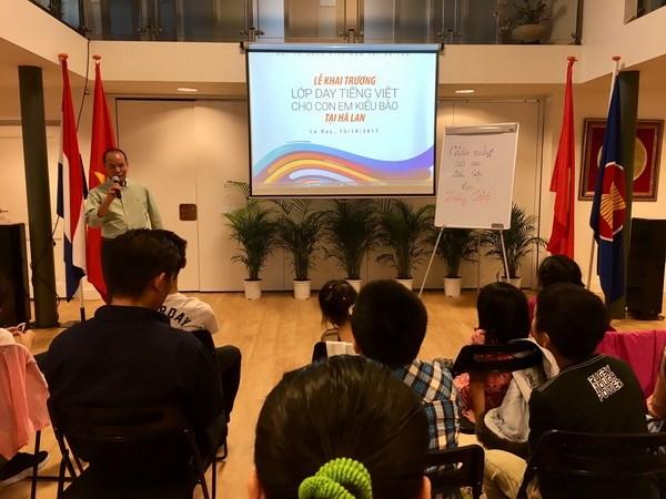 Khai giảng lớp học tiếng Việt cho con em kiều bào ở Hà Lan - ảnh 3