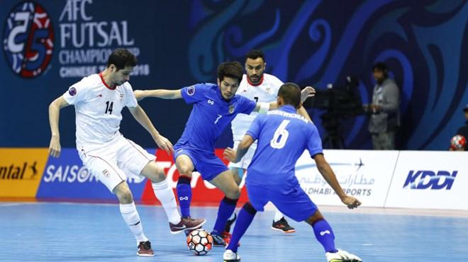 Futsal Thái Lan thảm bại trước Iran. (Nguồn: AFC)