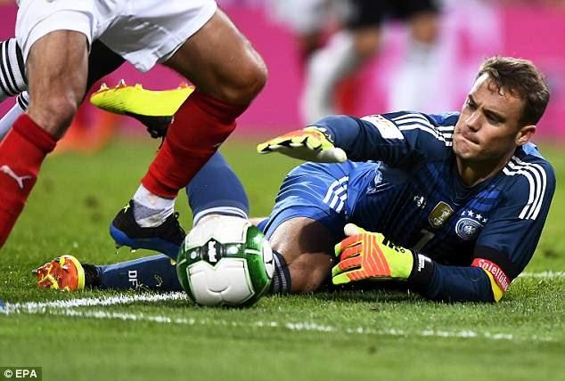 Manuel Neuer trở lại sau thời gian dài chấn thương. (Nguồn: EPA)