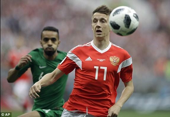 Trực tiếp Nga - Saudi Arabia 1-0: Gazinsky làm nổ tung Luzhniki - ảnh 2