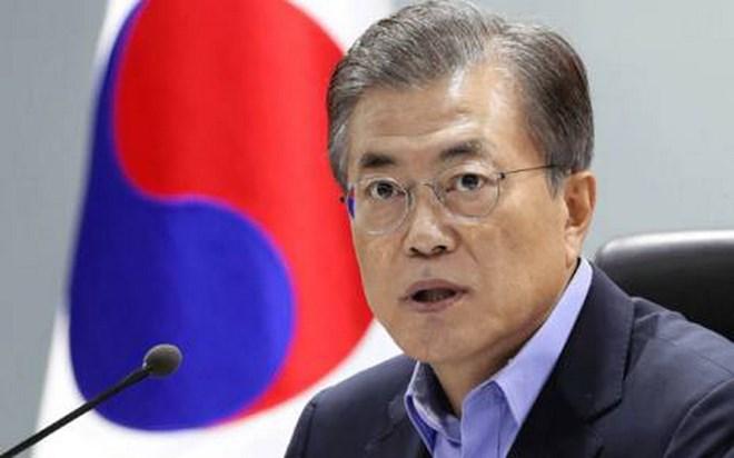 Tỷ lệ ủng hộ Tổng thống Hàn Quốc Moon Jae-in tăng mạnh - ảnh 1