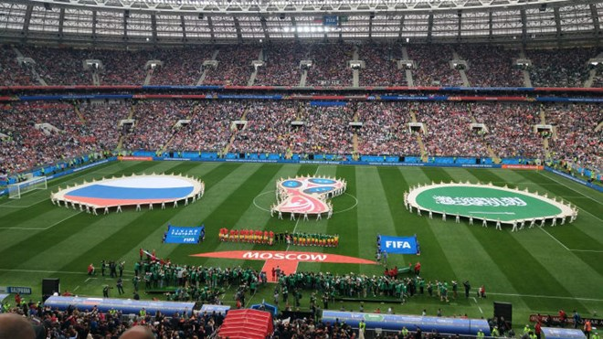Trực tiếp Nga - Saudi Arabia 1-0: Gazinsky làm nổ tung Luzhniki - ảnh 3