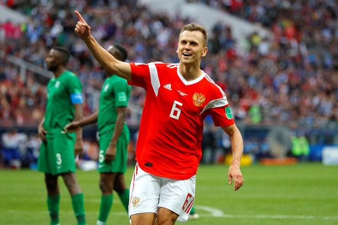 Cheryshev lập cú đúp ở trận đấu khai mạc World Cup 2018. (Nguồn: Getty Images)