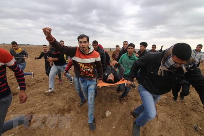 Số người Palestine bị thương gia tăng do đụng độ với binh sỹ Israel - ảnh 1