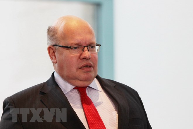 Bộ trưởng Kinh tế Đức Peter Altmaier. (Ảnh: Mạnh Hùng/TTXVN)