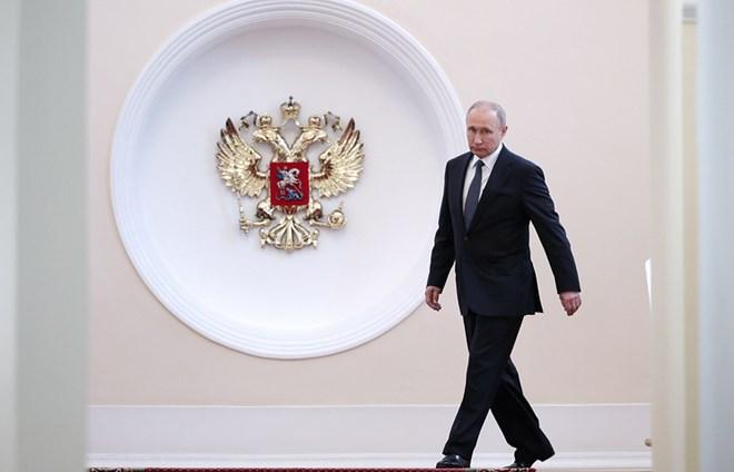 Tổng thống Nga Putin đến lễ nhậm chức nhiệm kỳ 4. Nguồn: TASS