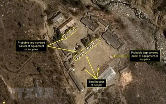Bãi thử hạt nhân Punggye-ri của Triều Tiên. (Nguồn: 38 North/TTXVN)