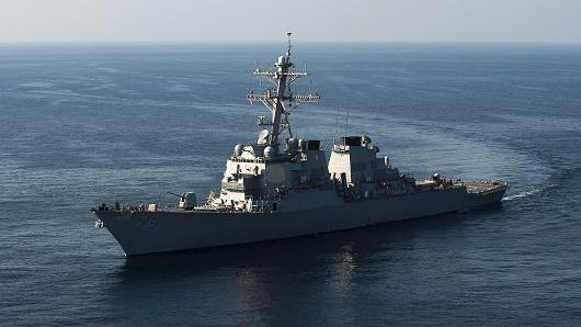 Tàu khu trục mang tên lửa dẫn đường Higgins của Mỹ. (Nguồn: Bộ Quốc phòng Mỹ)