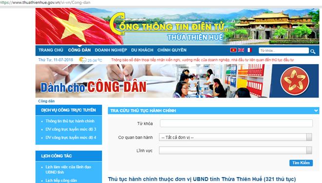 Thừa Thiên-Huế đứng đầu về phát triển Chính phủ điện tử cấp tỉnh - ảnh 1
