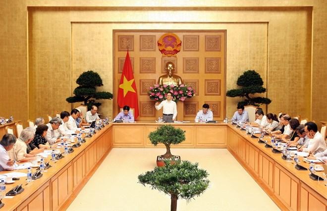 Phó Thủ tướng Vũ Đức Đam phát biểu tại buổi làm việc. Ảnh: Nguyễn Dân/TTXVN