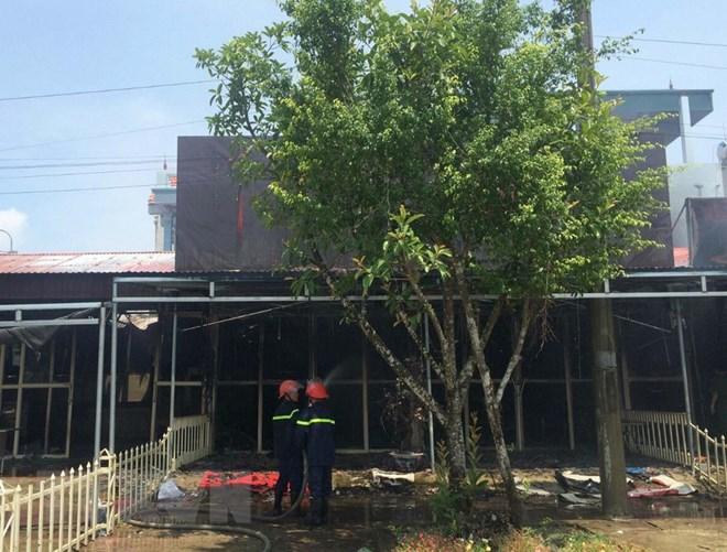 Thanh Hóa: Cháy chợ ở thị trấn Nga Sơn, 5 kiốt bị thiêu rụi