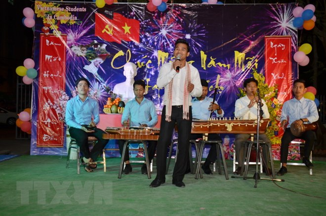 Sinh viên Việt Nam đón Tết Mậu Tuất đấm ấm tại Campuchia - ảnh 3