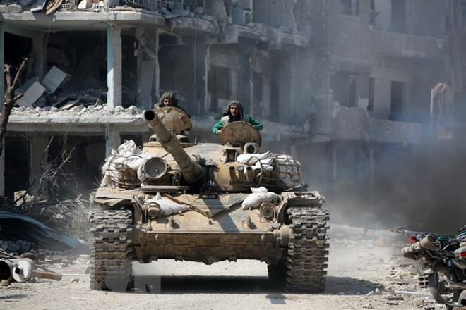 Syria: Lực lượng chính phủ tiến vào Dumayr sau khi phiến quân rời đi
