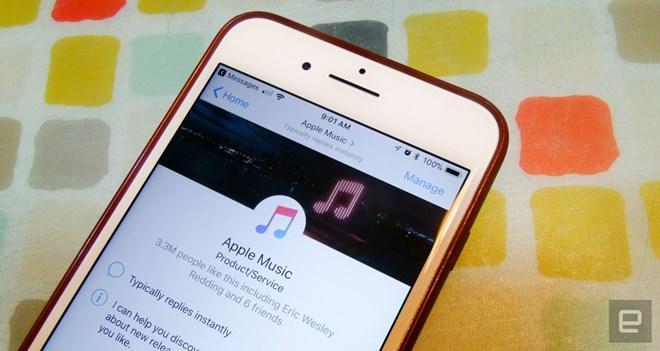 Apple Music hỗ trợ nghe, chia sẻ nhạc trong Facebook Messenger - ảnh 1