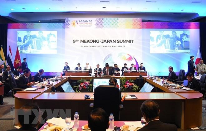 Quang cảnh hội nghị cấp cao Mekong-Nhật Bản lần thứ 9. (Ảnh: Thống Nhất/TTXVN)