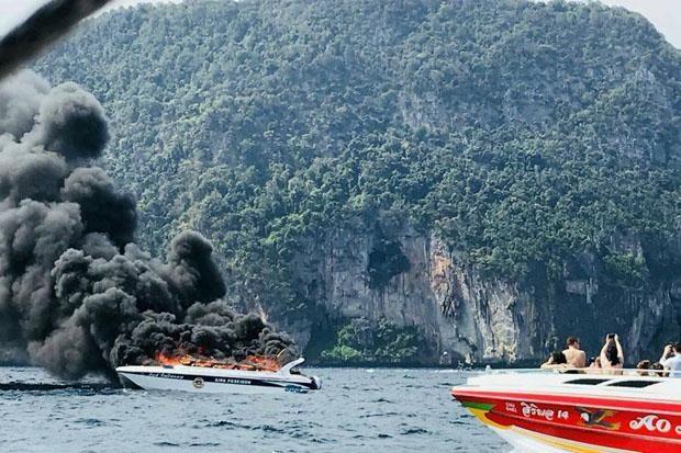 Nổ xuồng du lịch chở khách Trung Quốc ở Thái Lan, 16 người bị thương - ảnh 1