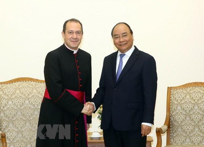Thứ trưởng Ngoại giao Vatican gặp Thủ tướng Việt Nam 19/01/2018