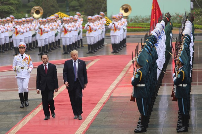 Chủ tịch nước Trần Đại Quang tin tưởng, trong bối cảnh khu vực và thế giới còn nhiều biến động, mối quan hệ hợp tác toàn diện, ổn định và cùng có lợi giữa Việt Nam và Hoa Kỳ sẽ là một nhân tố tích cực, góp phần quan trọng vào việc duy trì hòa bình, ổn định, hợp tác và phát triển ở khu vực và trên thế giới. (Ảnh: Minh Sơn/Vietnam+)