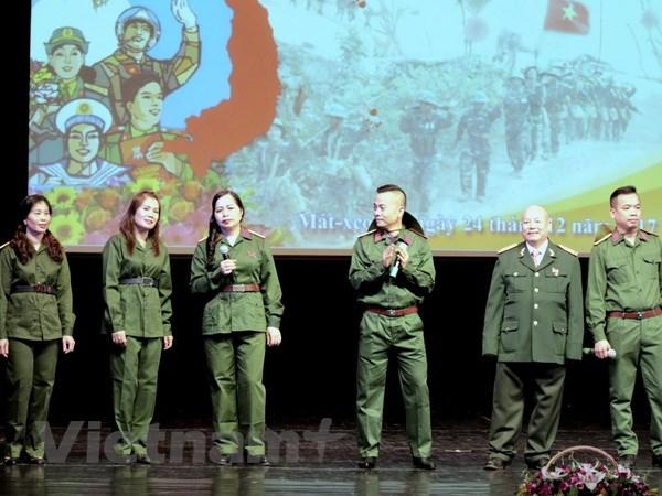 Kỷ niệm 73 năm Ngày thành lập Quân đội Nhân dân Việt Nam tại Nga - ảnh 1