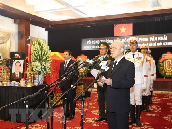 Cử hành Lễ truy điệu và an táng nguyên Thủ tướng Phan Văn Khải - Ảnh 1