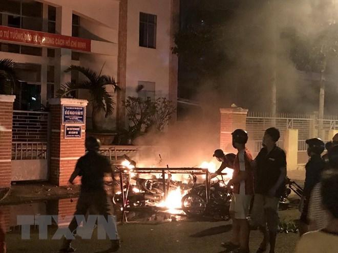 Kết quả hình ảnh cho Thông tin chính thức vụ các đối tượng gây rối tại Bình Thuận