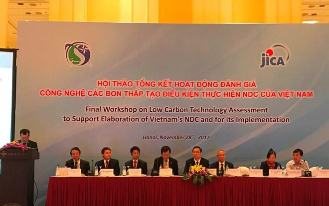 Hội thảo tổng kết hoạt động đánh giá công nghệ cácbon thấp tạo điều kiện thực hiện NDC của Việt Nam. (Nguồn ảnh: JICA)