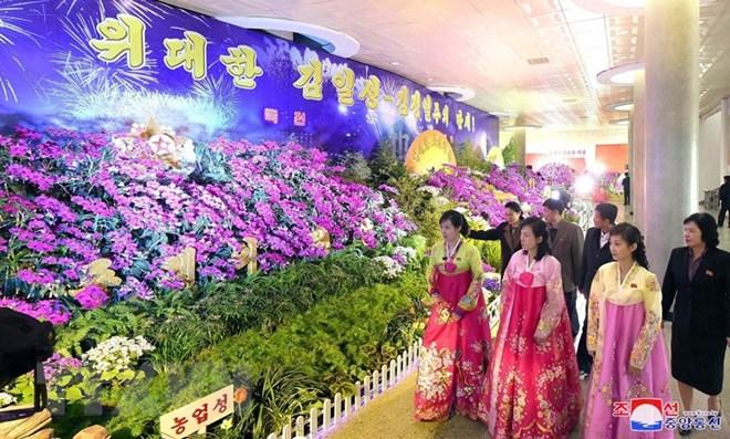 Triển lãm Hoa Lan ở thủ đô Bình Nhưỡng ngày 12/4. (Nguồn: YONHAP/TTXVN)