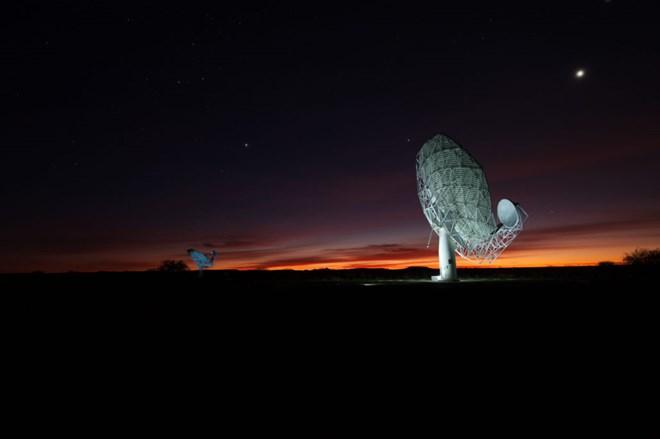 Tổ hợp kính thiên văn MeerKAT. (Nguồn: techfinancials.co.za)