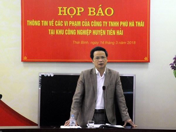 Giải quyết dứt điểm sai phạm của Công ty TNHH Phú Hà Thái - ảnh 1