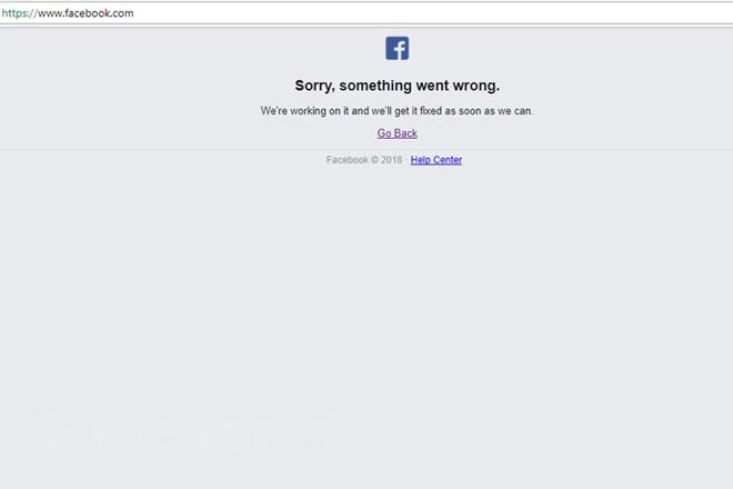 Mạng xã hội lớn nhất toàn cầu Facebook bị sập trong nhiều giờ