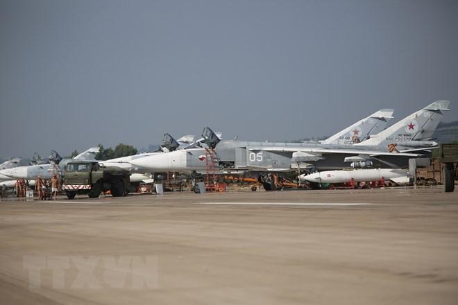 Căn cứ không quân Hmeimim của Nga tại Syria. (Nguồn: AFP/TTXVN)