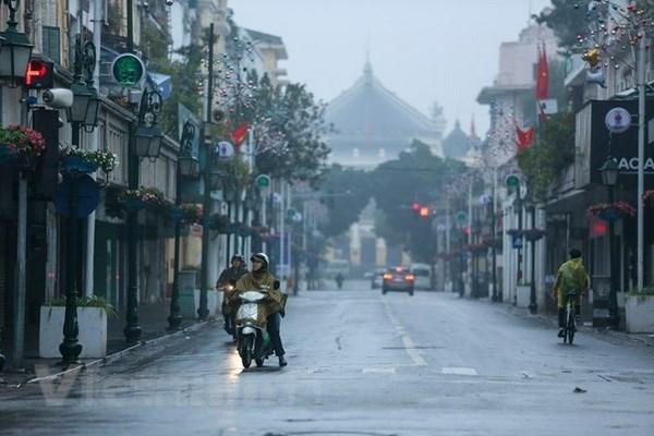 Không khí lạnh tràn về, Đông Bắc Bộ và Bắc Trung Bộ có mưa nhỏ