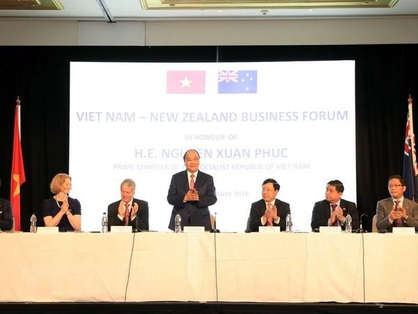 Thủ tướng Nguyễn Xuân Phúc đến dự Diễn đàn Doanh nghiệp Việt Nam-New Zealand. (Ảnh: Thống Nhất/TTXVN)