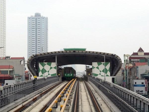 Nhà ga Văn Phú trên tuyến Cát Linh-Hà Đông (Ảnh: Huy Hùng/TTXVN)